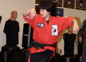 instructor rania performs long form 6 - pro kenpo martial arts school