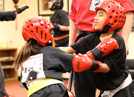 sparring class for children - pro kenpo martial arts school